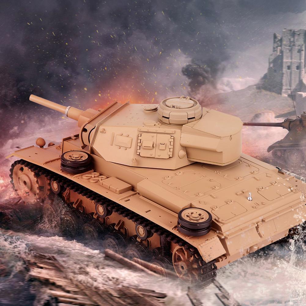 Heng Largo 1/16 2.4Ghz 3849-1 Tauch Panzer Ausf.H RC modelo de tanque de batalla III Regalo
