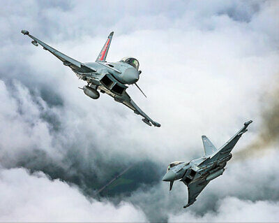 Collectibles Candid Two Typhoon Fgr4 In Flight Royal Air Force 11x14 Silver Halide Photo Print To Make One Feel At Ease And Energetic