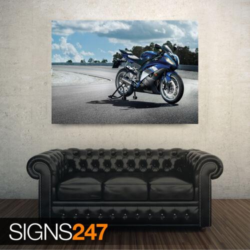 Yamaha YZF R6 de ancho Todos los Tamaños Moto-Foto Poster Print Arte Cartel 1651