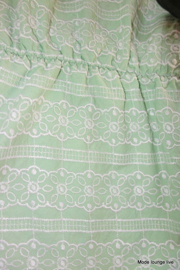 NOA NOA NUOVO Empire Vestito ANDREA anglaise anglaise anglaise verde luminoso Cameo verde NUOVO 66c176