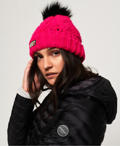 Superdry Womens Chic Regal Cable Beanie Size 1Size
