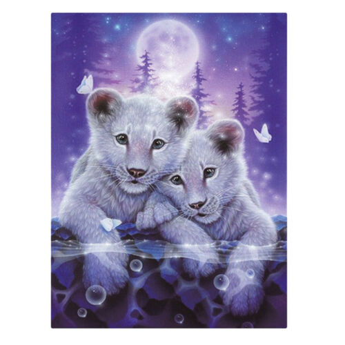 Tiger Family DIY 5D Diamond Embroidery Painting Cross Stitch Kit for Adults
