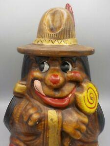 Vintage-California-Originals-Cookie-Jar-Indian-Chief-w-Lollipop