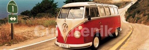 Volkswagen Camper Route One  Pacific Coast Highway  Door Poster