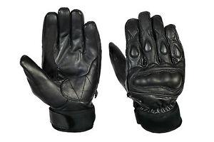 Appris Tout Neuf Quality VÉritable Cuir Moto,gants Racing Avec Articulation Protection De Bons Compagnons Pour Les Enfants Comme Pour Les Adultes