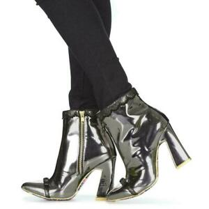 Irregular-Choice-039-039-Anastasia-039-039-A-High-Heel-Zip-Up-Black-Ankle-Boots-Shoes