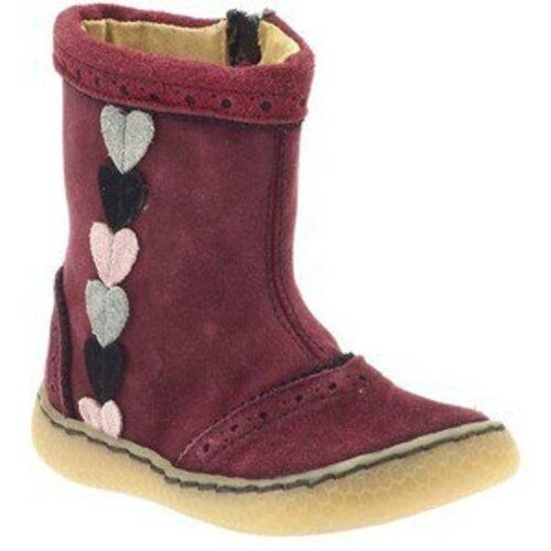 New NIB LIVIE /& LUCA Shoes Boots Maeve Suede Leather Burgundy 4 5 7