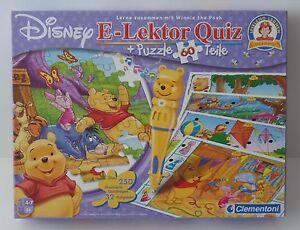 Clementoni-Disney-e-editor-Quiz-puzzle-Winnie-Pooh-completo-como-nuevo