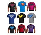 Under Armour SUPERMAN Alter Ego Compression Tee Shirt Muscle Tshirt