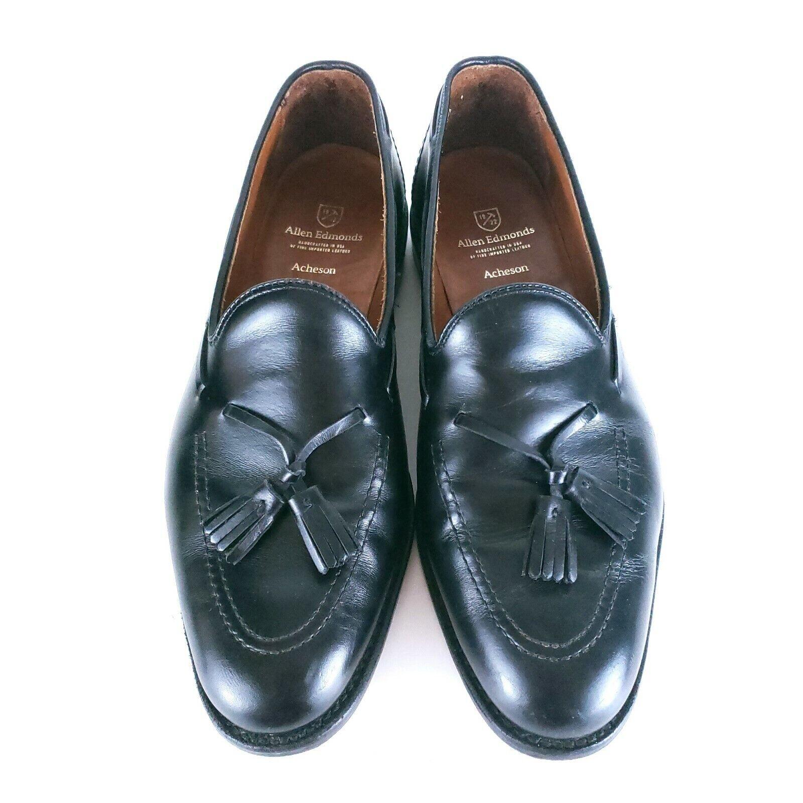 Allen Edmonds Tassel mocassin hommes chaussures Acheson Noir Taille 11-Made in USA