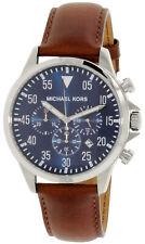Michael Kors Men's Gage MK8362 Brown Leather Japanese Quartz Fashion Watch