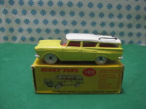 Vintage-RAMBLER-CROSS-COUNTRY-SW-Dinky-Toys-193-Nuova-Mint-Box