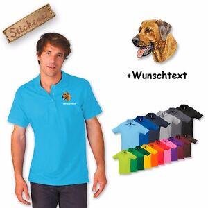 Poloshirt Baumwolle bestickt Stickerei Rhodesian Ridgeback + Wunschtext