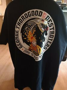 Mens-George-Thorogood-and-the-Destroyers-Shirt-L-GOOD-TO-BE-BAD-TOUR-45-Years