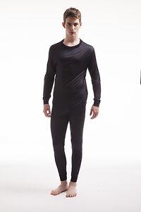 Jasmine-Silk-Men-039-s-Pure-Silk-Thermal-Long-Sleeves-Top