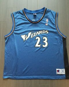 fae7c347bbb7f Details about Vintage Champion Washington Wizard #23 Michael Jordan NBA  basketball jersey 44