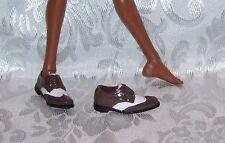 New FOR MODERN KEN & BOY MONSTER HIGH DOLLS 2 TONE BROWN & WHITE DRESS SHOES
