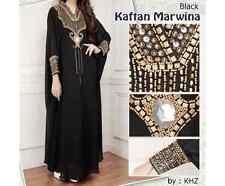 Fancy Black Maxi Kaftan Gowns Dresses Moroccan Dubai Abaya Maxi Caftan Dress