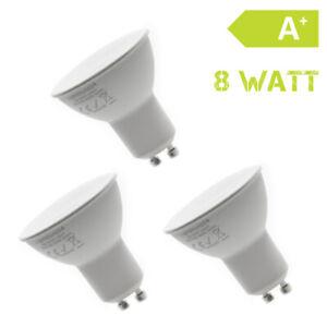 3er-Set-GU10-LED-8W-Warmweiss-Strahler-Lampe