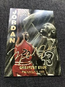 MICHAEL-JORDAN-Pro-Sports-Gold-Foil-Auto-Greatest-Ever-RARE-NMMT-Bulls-Card