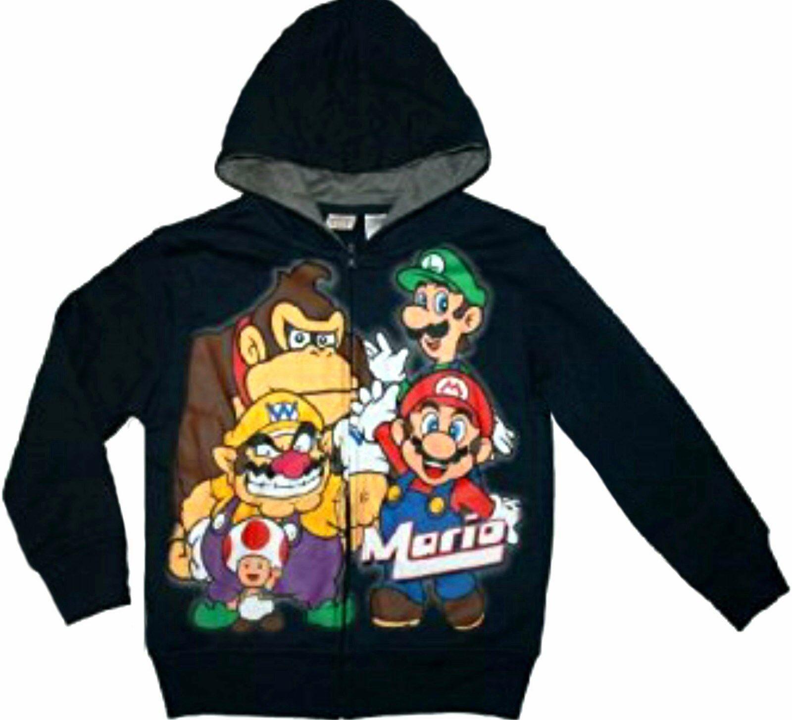 Super Mario Pullover Giacca con Cappuccio Fashion Leisure Fashion Giacca con Cappuccio Classic Printed Hooded Keep Warm Ragazzi e Ragazze
