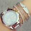 Fashion-Women-Gold-Silver-Punk-Cuff-Bracelet-Bangle-Chain-Wristband-Set-Jewelry thumbnail 35