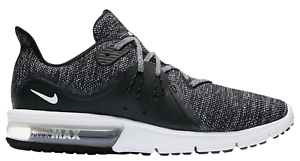 1c2a72b19e Men's Nike Air Max Sequent 3 Running Shoes Black / White / Grey ...