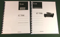 Icom Ic-706 Service & Instruction Manuals - Card Stock Covers & 32 Lb Paper
