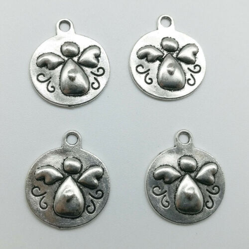 Tibetan Silver Charms Pendant Angel DIY Jewelry Finding Crafts 21*18mm 10//30pcs