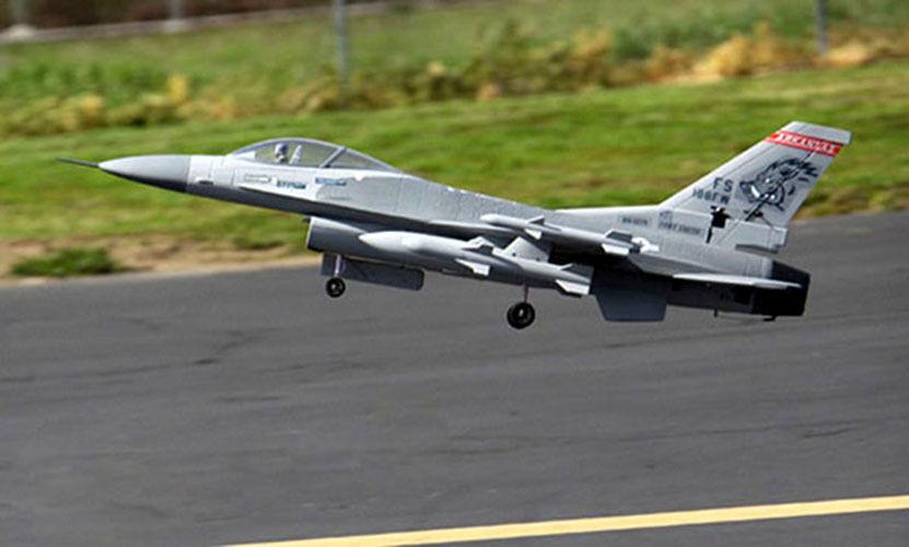 Skyflight LX 51.2in F16 Falcon PNP RC avión modelo 70mm EDF Boquilla de 360 grados