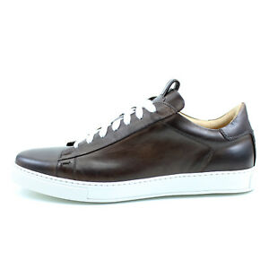 b03cf0d3ee3f Men s SHOES SNEAKERS brown leather handmade Italian GIORGIO REA ...