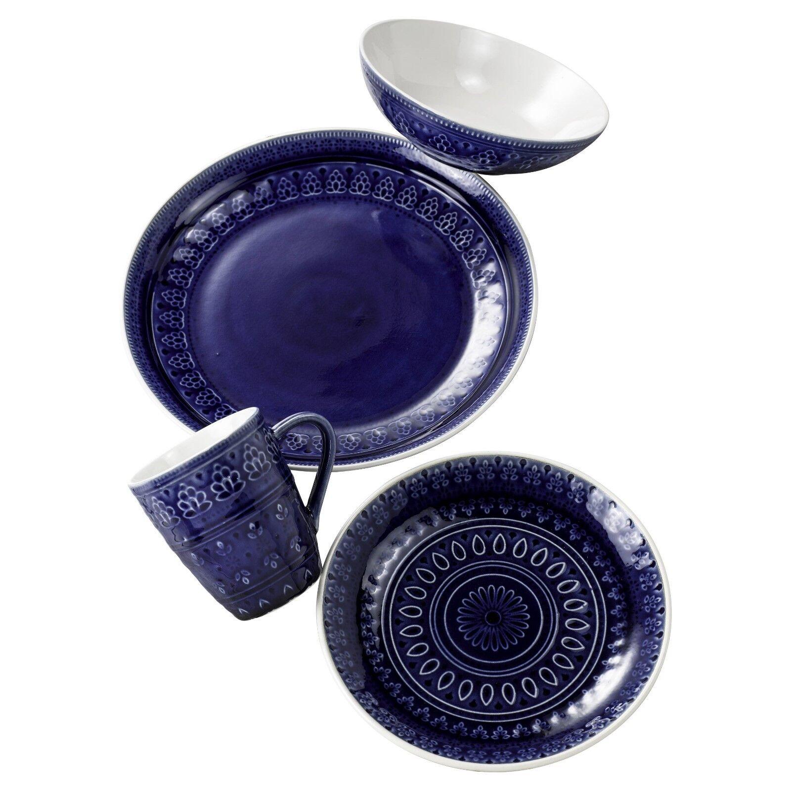 Fez 16 Pièce Dinnerware Set en bleu par Euro Ceramica