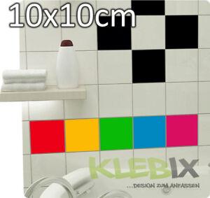 72mal-10x10cm-Fliesenaufkleber-Kacheldekor-Aufkleber-Sticker-Mosaik-Kleber-Bad