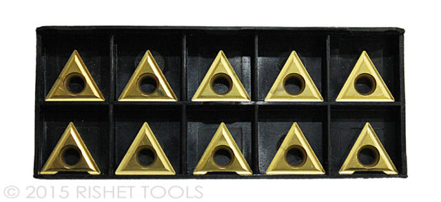 10 Pcs. TPGH-322 Grade C5//C6 TiN Coated Carbide Inserts