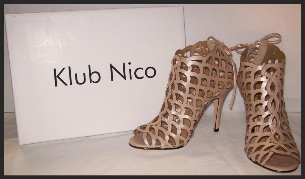BHLDN Anthropologie KLUB Sz NICO Metallic Nude Chain-link Heels Bootie New Sz KLUB 7-11 8b402b