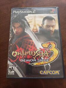 Onimusha-3-Demon-Siege-Complete-in-Box-Playstation-2-CIB-PS2-Rare