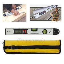 0~225°Digital Angle Finder Protractor Inclinometer Meter LCD Spirit Level Gauge