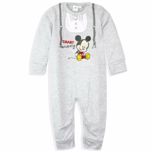 Disney Mickey Mouse Baby Boys Cotton Romper Play suit Sleepsuit Mnts GIFT BOX