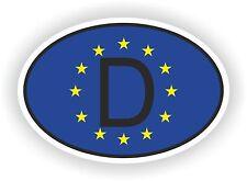 OVAL EUROPEAN UNION FLAG CON D Codice paese Adesivo Germania Motocycle auto