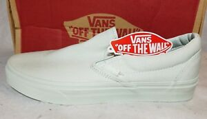 Vans New Classic Slip On Mono Canvas Milky Green Shoe Size Women 10 ... e13764fc4