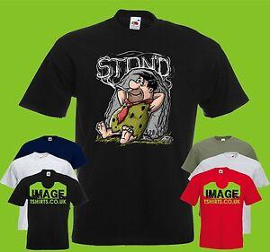 Flint Stoned Mens Printed T Shirt Tv Cartoon Funny Character Fred