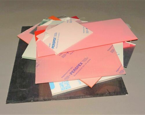Coloured 9kg of 3mm Acrylic Offcuts Plastic Panels Various Sized Mixed