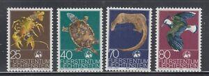 Liechtenstein-1976-Sc-583-586-WWF-turtle-complete-mint-never-hinged