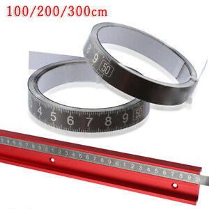 Selbstklebende Metrische Maßband Edelstahl Lineal Sewing Sticker 100-300cm Neu