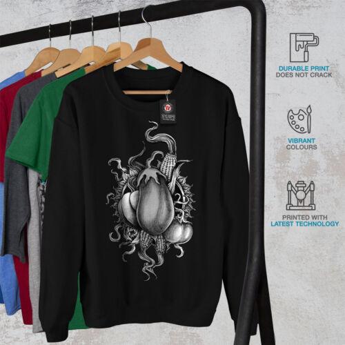 Wellcoda Vegan Vegetable Fashion Mens Sweatshirt Casual Pullover Jumper