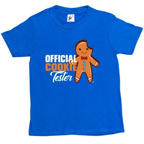 Girls T-Shirt Official Cookie Tester Gingerbread Man Happy Kids Boys