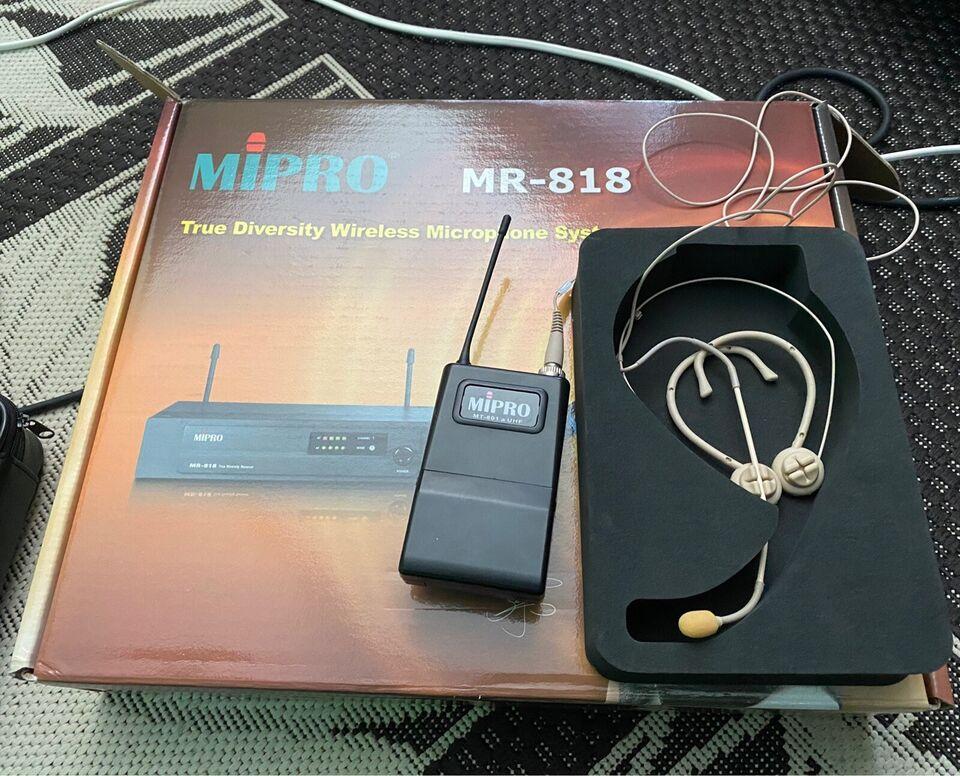 Mipro trådløs headset mikrofon, Mipro Mr-818