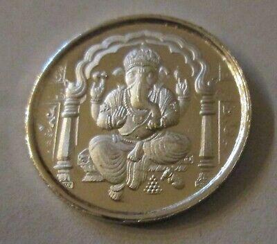 Diwali Ganesha 5 Gram Silver Coin w//Ohm Praying India Hindu God New Year