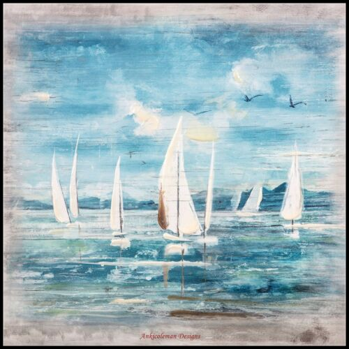 Boat Chart Counted Cross Stitch Patterns Needlework DIY DMC color