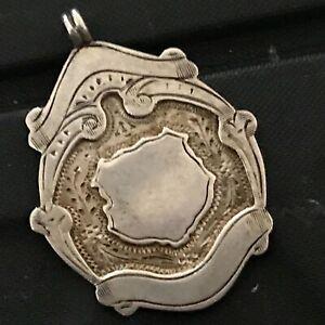 Silver Fob Sheild Shaped Hallmarked  ref012